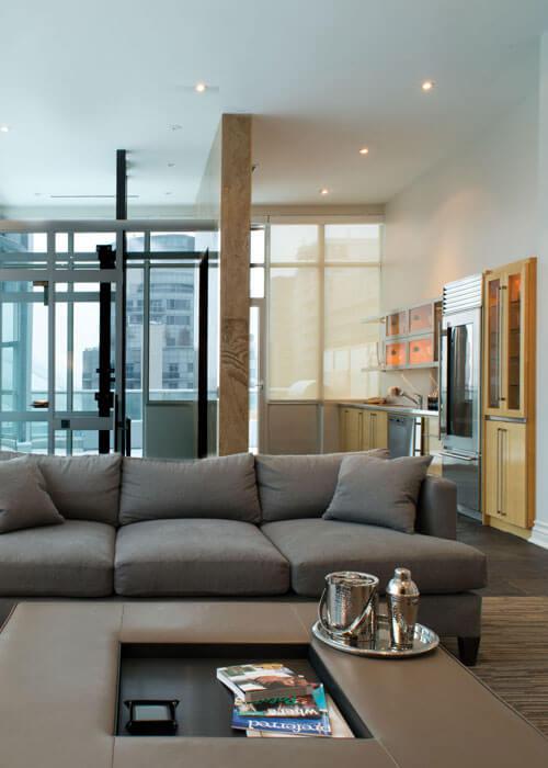 SoHo Hotel Penthouse third floor living room
