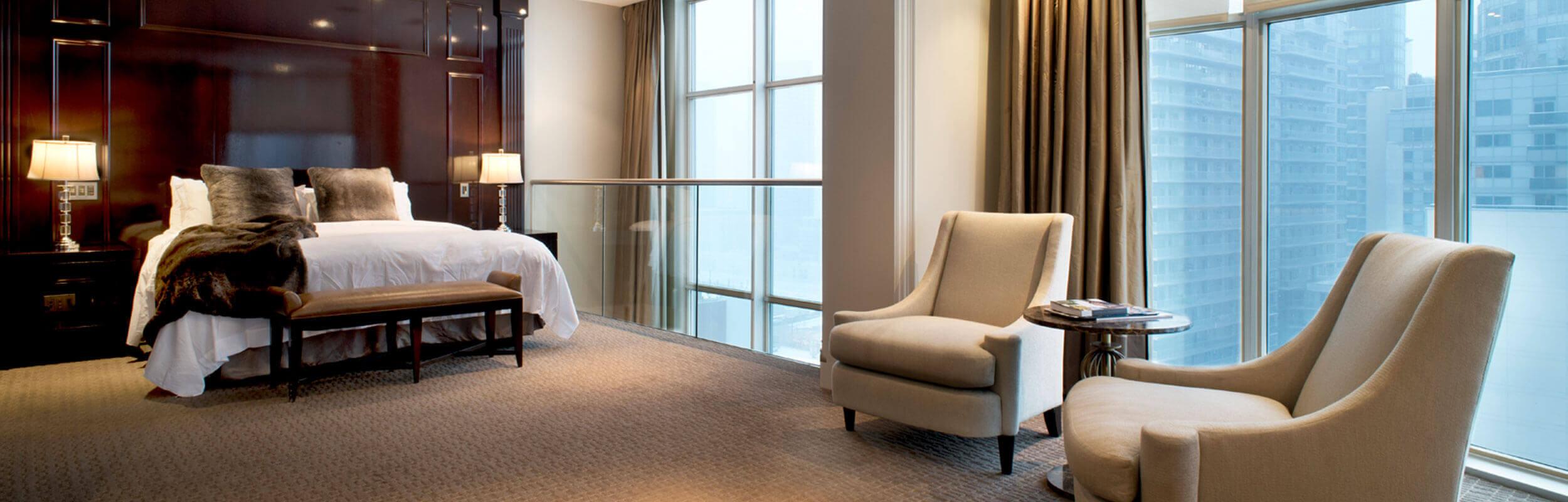 SoHo Hotel Penthouse second floor bedroom