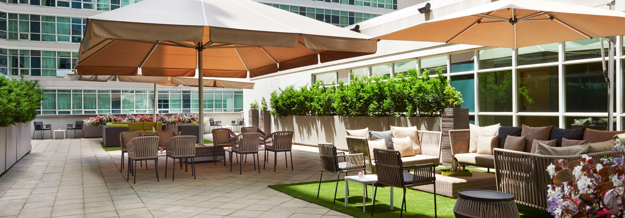 SoHo Hotel amenities outdoor terrace adjacent to meeting rooms
