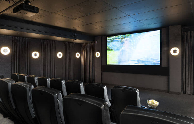 SoHo Champagne Residences in Ottawa amenities private screening room