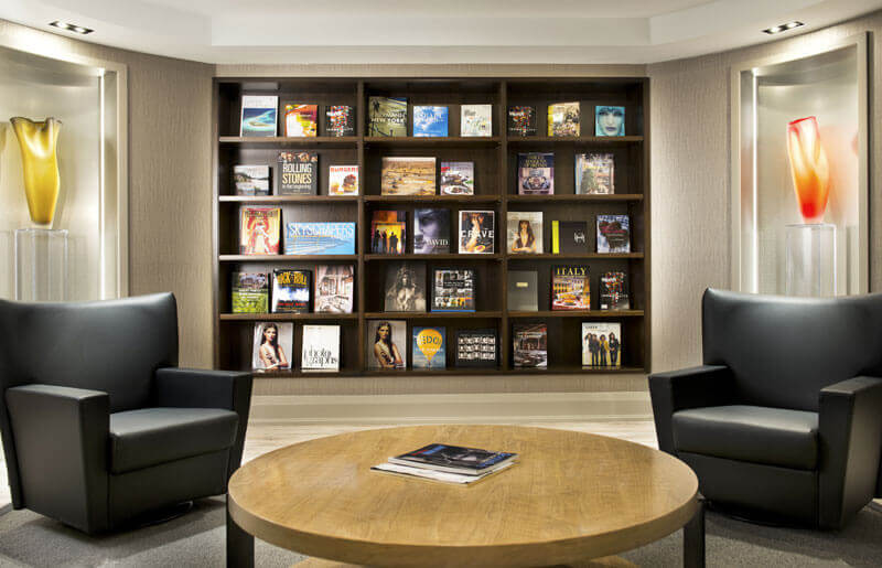 SoHo Champagne Residences in Ottawa amenities library lounge
