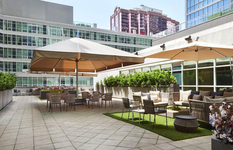 SoHo Hotel amenities outdoor terrace adjacent to meeting rooms