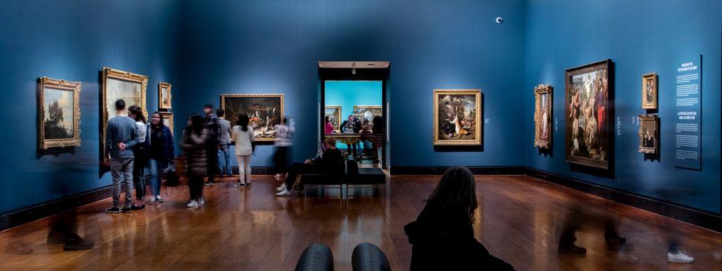 inside the European exhibit of the Art Gallery of Ontario