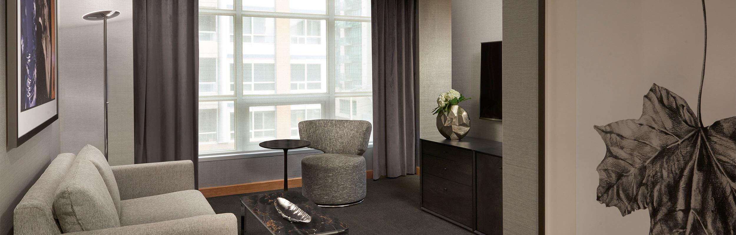 SoHo Hotel renovated corner executive suite
