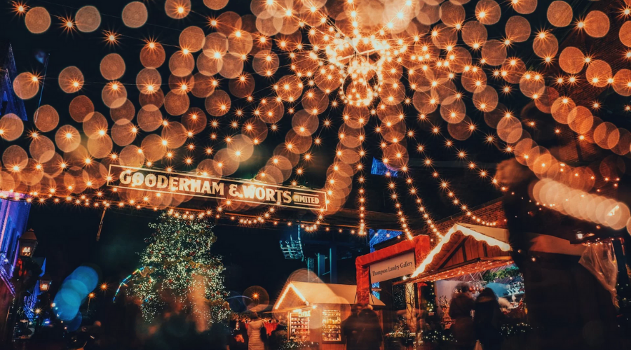 Toronto Christmas Market Lights at Night