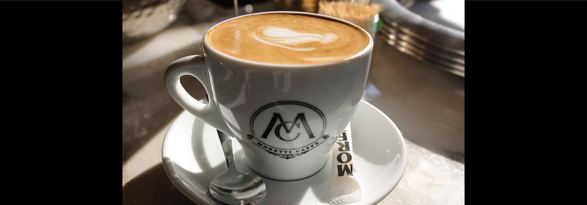 Latte at Moretti Caffe