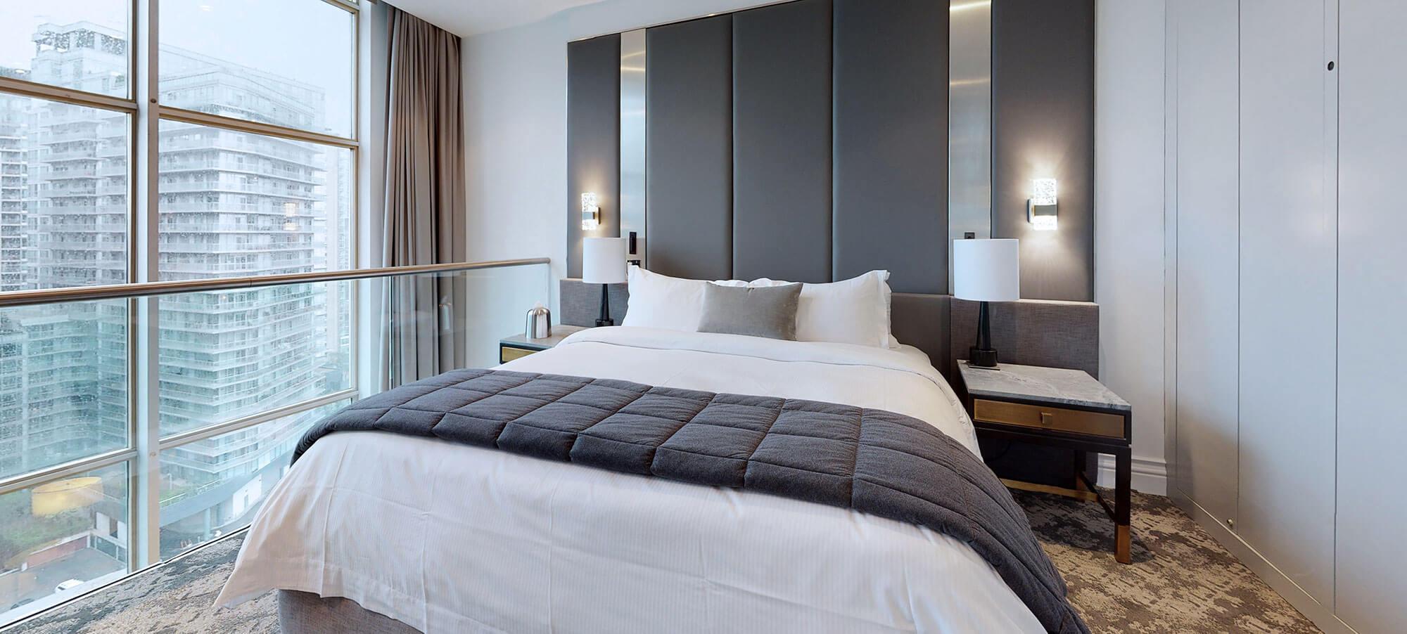 Bedroom at The SoHo Hotel 3-storey Penthouse