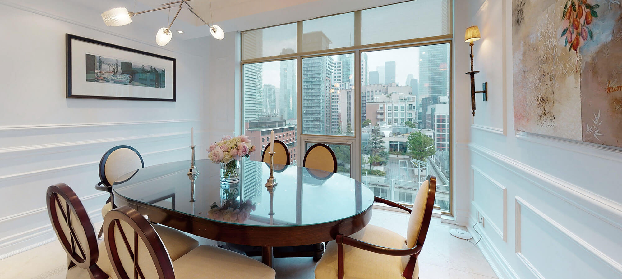 Dining room at The SoHo Hotel 3-storey Penthouse