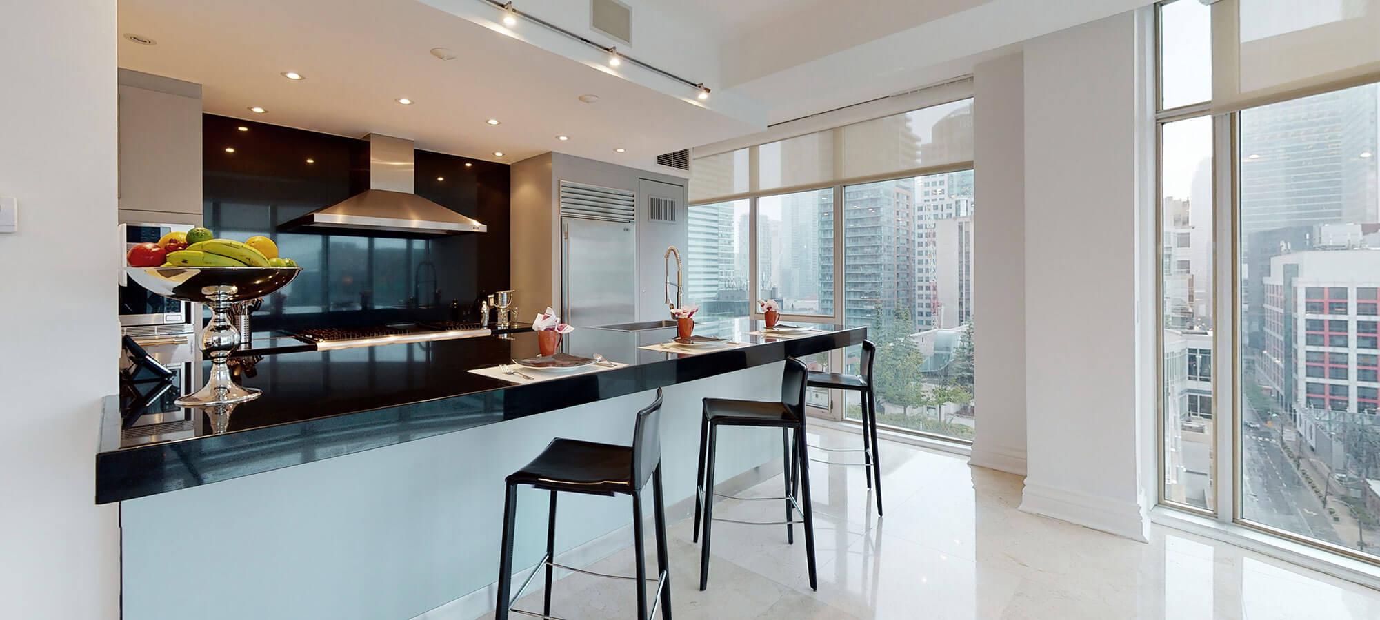 Kitchen and Bar at The SoHo Hotel 3-storey Penthouse
