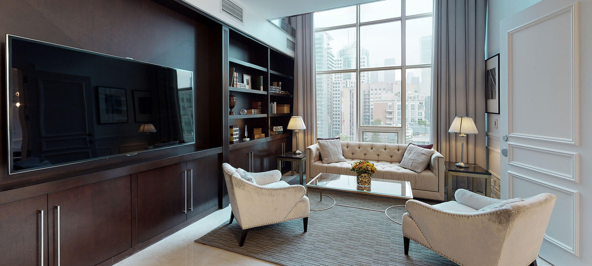 Library suite at The SoHo Hotel 3-storey Penthouse