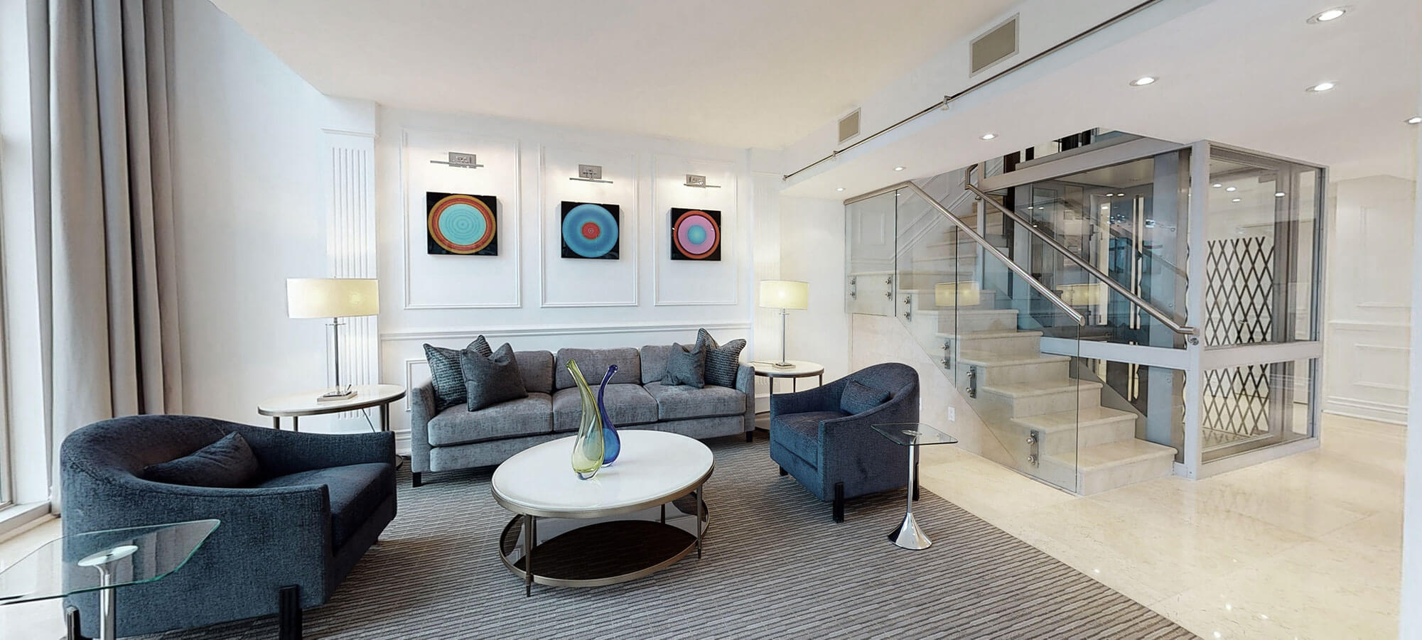 Living room at The SoHo Hotel 3-storey Penthouse