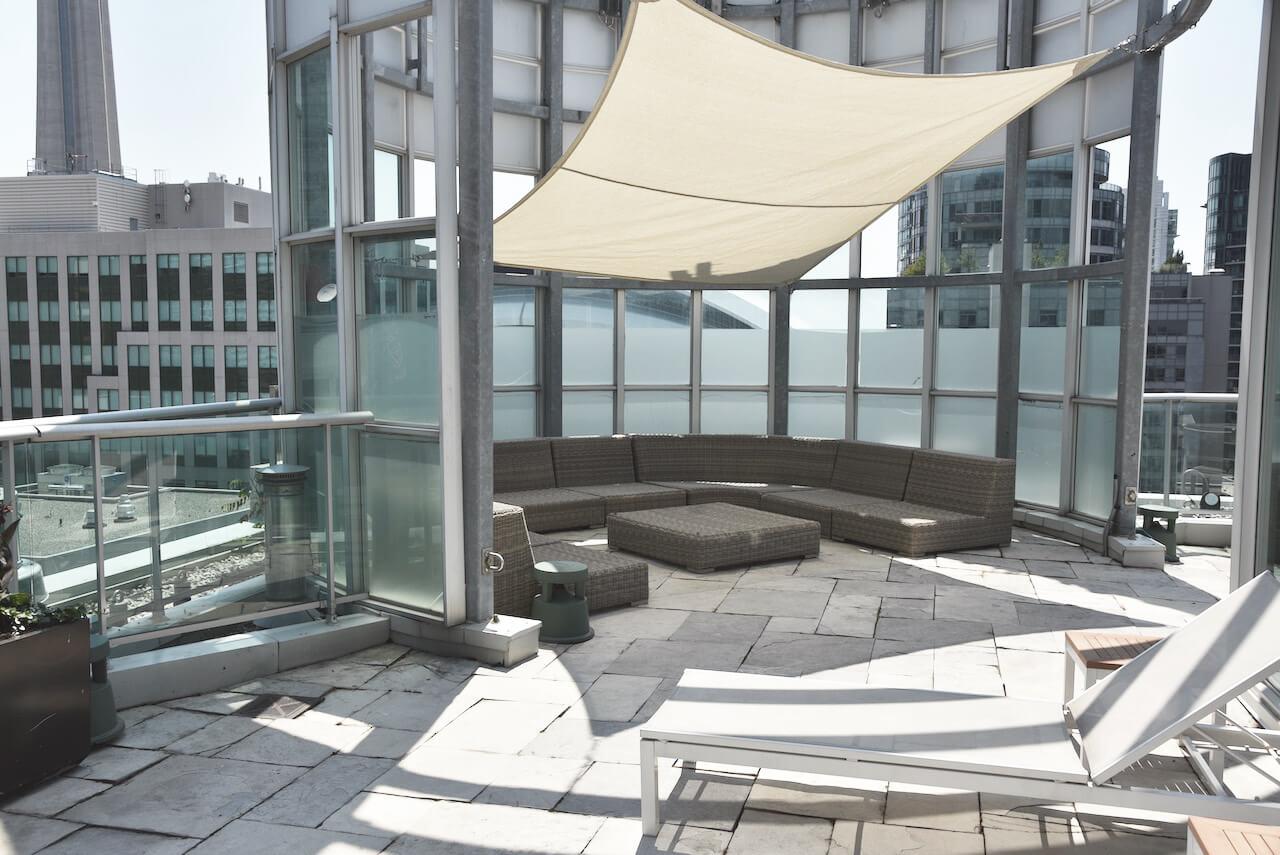 Outdoor terrace at The SoHo Hotel 3-storey Penthouse